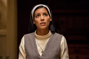 Stephanie Sigman, a woman dressed as a nun