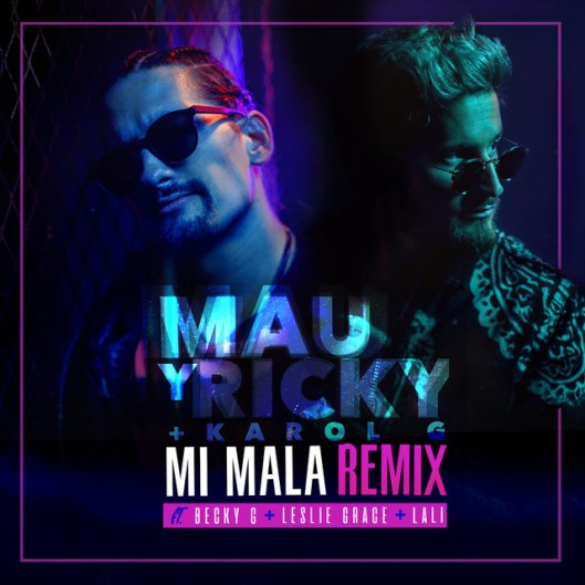 Mau Y Ricky on the cover for the Mi Mala Remix