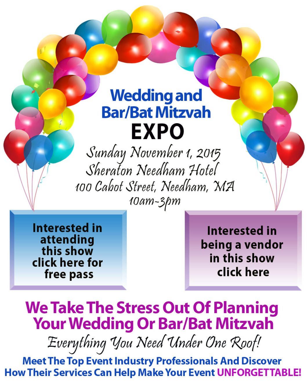 Wedding and Bar/Bat Mitzvah Expo 2015