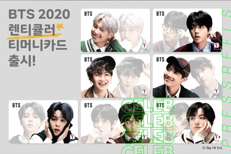 BTS, 7 limited editions of 'T-Money Transportation Card' have been released