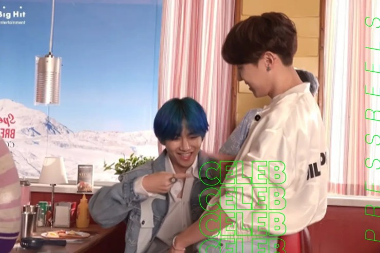 BTS V, Behind the Scenes of the Lovely Music Video with j-hope