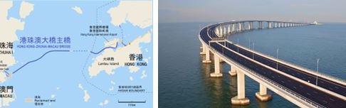 1020 04 1 - 香港-マカオ「港珠澳大橋」(約55キロ)23日全面開通へ 世界最長橋