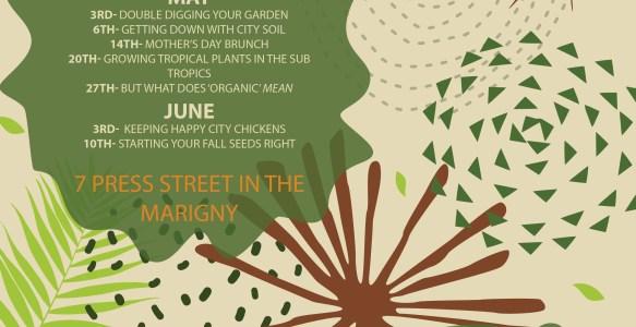 Spring and summer workshops in Press Street Gardens