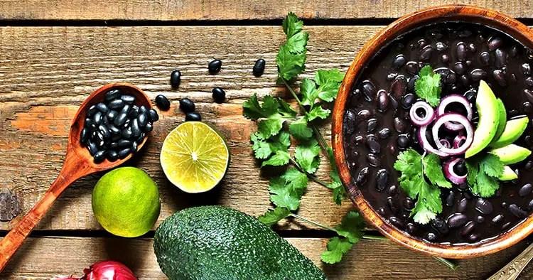 black bean soup or stew.