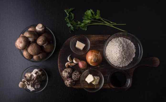 Instant Pot Mushroom Risotto Recipe (Pressure Cooker Mushroom Risotto). Ingredients