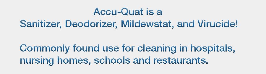 Is a Sanitizer, Deodorizer, Mildewstat, and Virucide!