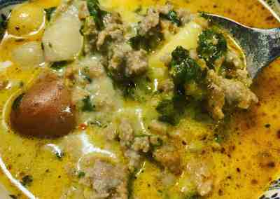 Instant Pot Sausage & Spinach Soup (Best Zuppa Toscana)