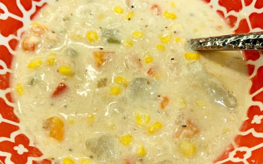 Instant Pot Corn & Crab Chowder