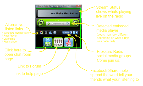 pop-up player layout