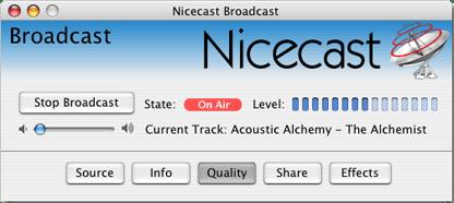 nicecast mac internet streaming broadcast software