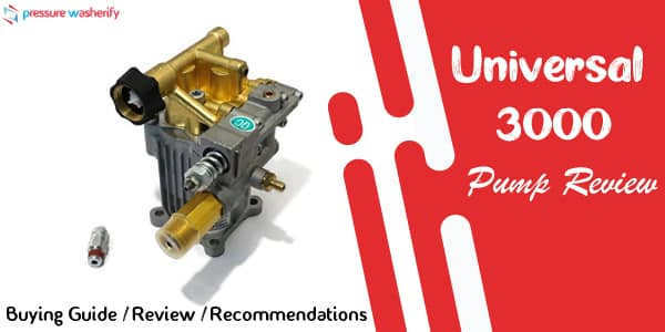 Universal 3000 PSI Pressure Washer Pump Review