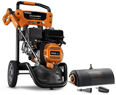 Generac 6595 2,500 PSI 2.3 GPM 196cc OHV Gas Powered Residential Pressure Washer Review
