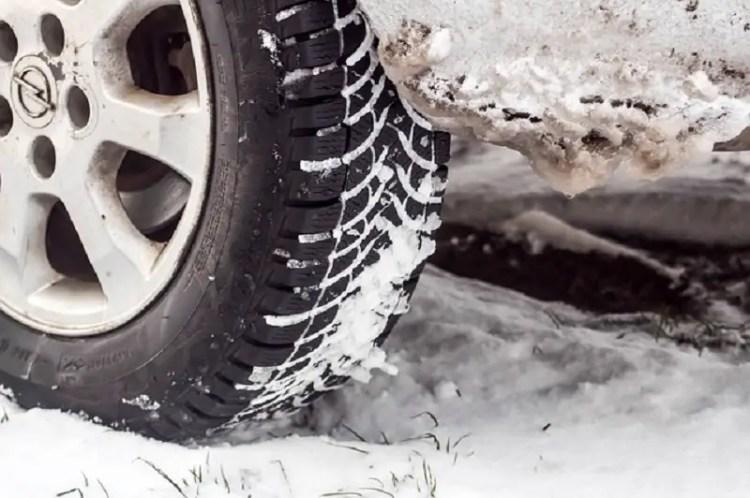 Tire in Winter Snow