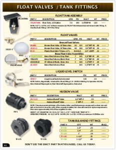 2019 Pressure Zone Parts 23 Float Valves