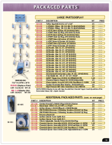 2019 Pressure Zone Parts 38 Packaged Parts
