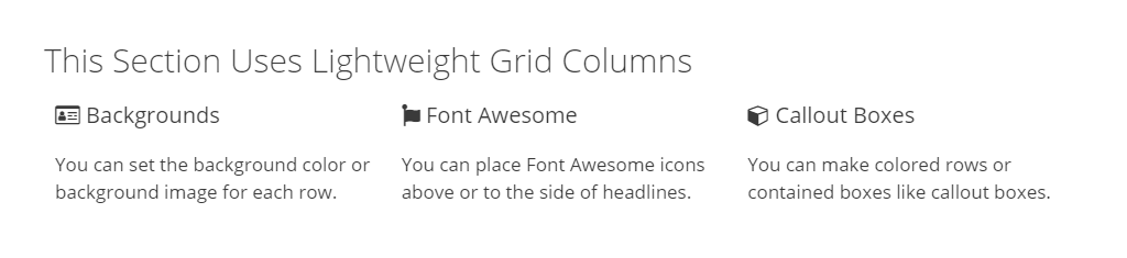 Font Awesome icons to left of headlines