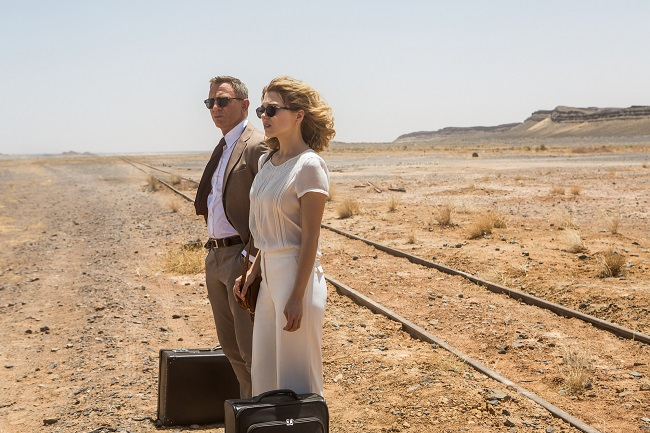 Daniel Craig and Léa Seydoux in Metro-Goldwyn-Mayer Pictures/Columbia Pictures/EON Productions' action adventure SPECTRE.