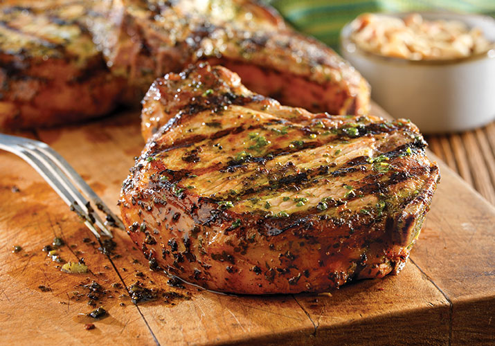 Grilled Pork Chops with Garlic