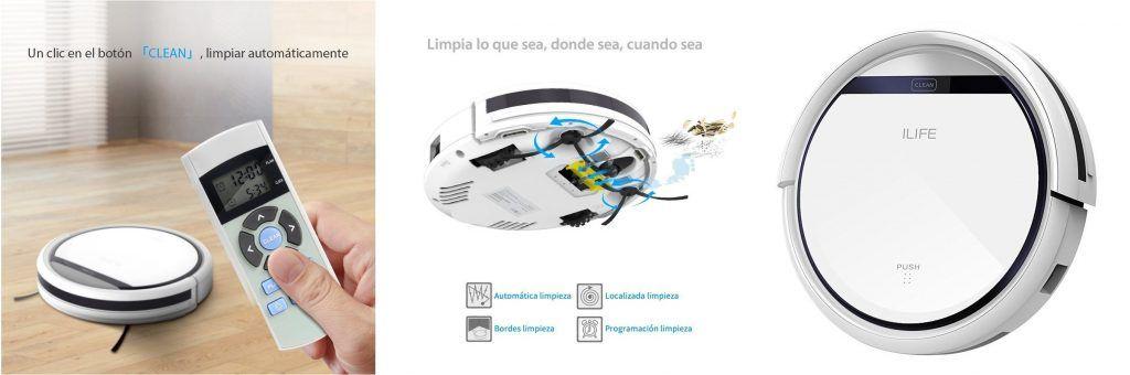 ILIFE V3s Pro Robot Aspirador y Limpieza de Suelos