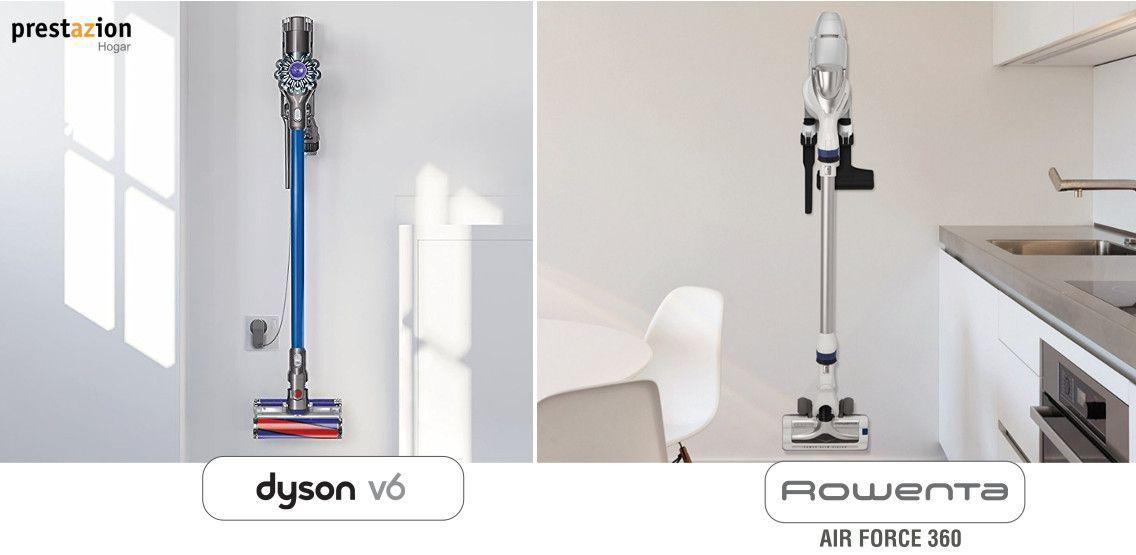 dyson v6 vs rowenta 360 comparativa diseño