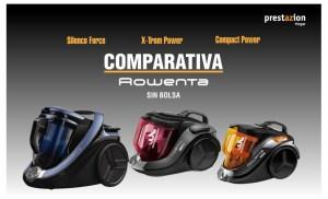 Comparativa Silence Force Rowenta x-trem power compact ciclonicas sin bolsa