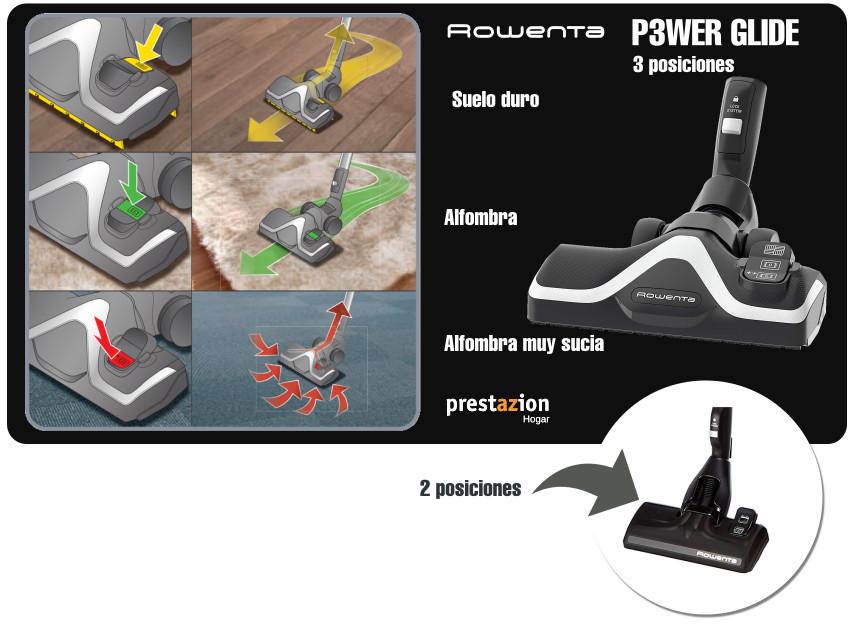 Rowenta Silence Force - cabezal p3wer glide-3 posiciones