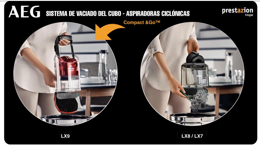 aspiradoras sin bolsa AEG sistema de vaciado del cubo