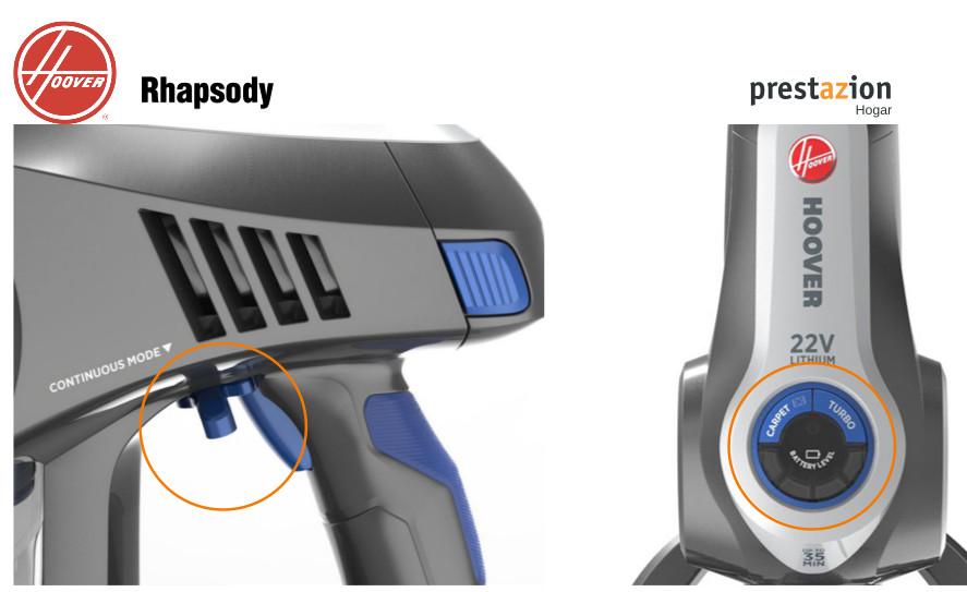 Hoover Rhapsody aspiradora sin cable caracteristicas