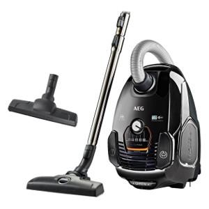 VX7-2-EB-P-AEG VX7 Power - Aspiradora con bolsa con cepillo parketto, color negro ébano