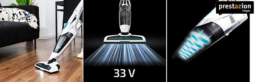 Cecotec Conga Immortal Extreme 33,3 V H2O. Aspirador Vertical 4 en 1. Depósito de Agua con mopa Opcional. Tecnología ciclónica. 65 Minutos