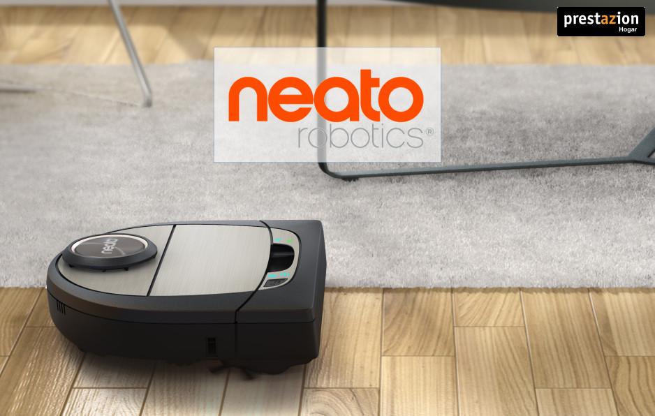Neato Robotics aspirando suelo duro y alfombra