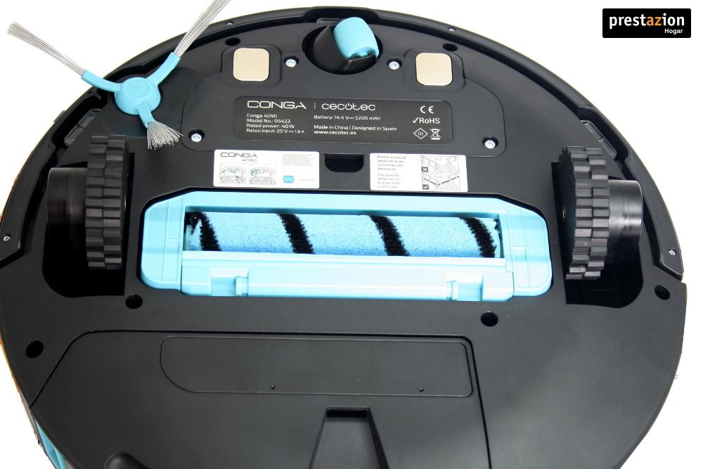 Robot aspirador conga 4090 con cepillo jalisco - vista inferior