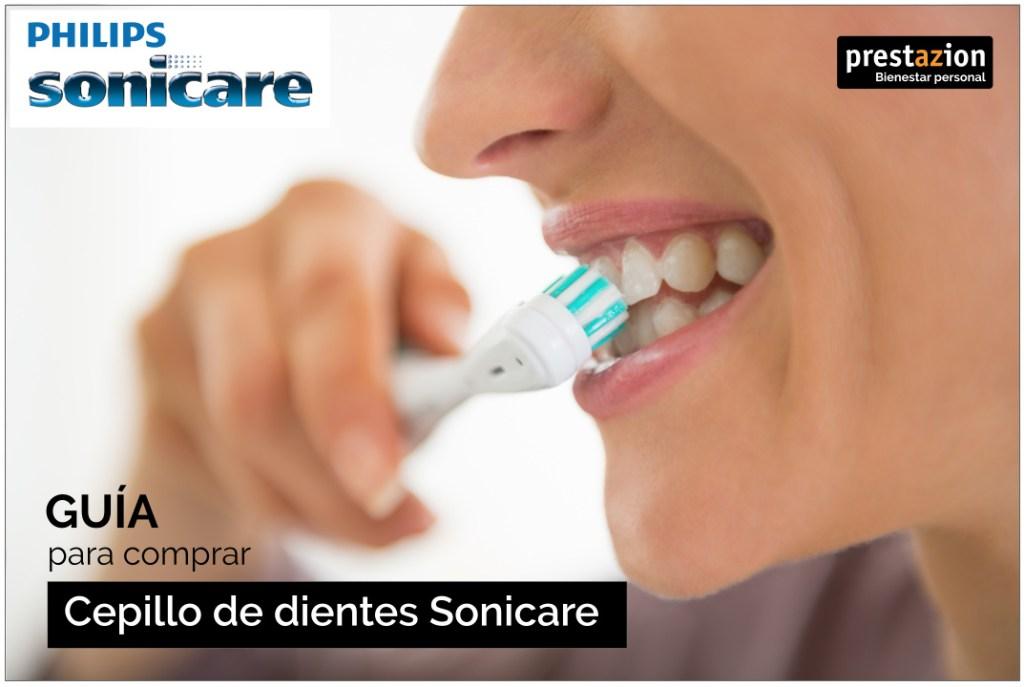 limpieza de dientes con un Cepillo eléctrico Philips Sonicare