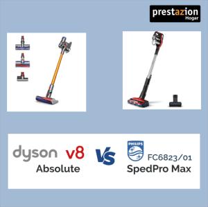 aspiradoras sin cable Dyson v8 Absolute vs. Philips SpeedPro Max FC6823-01