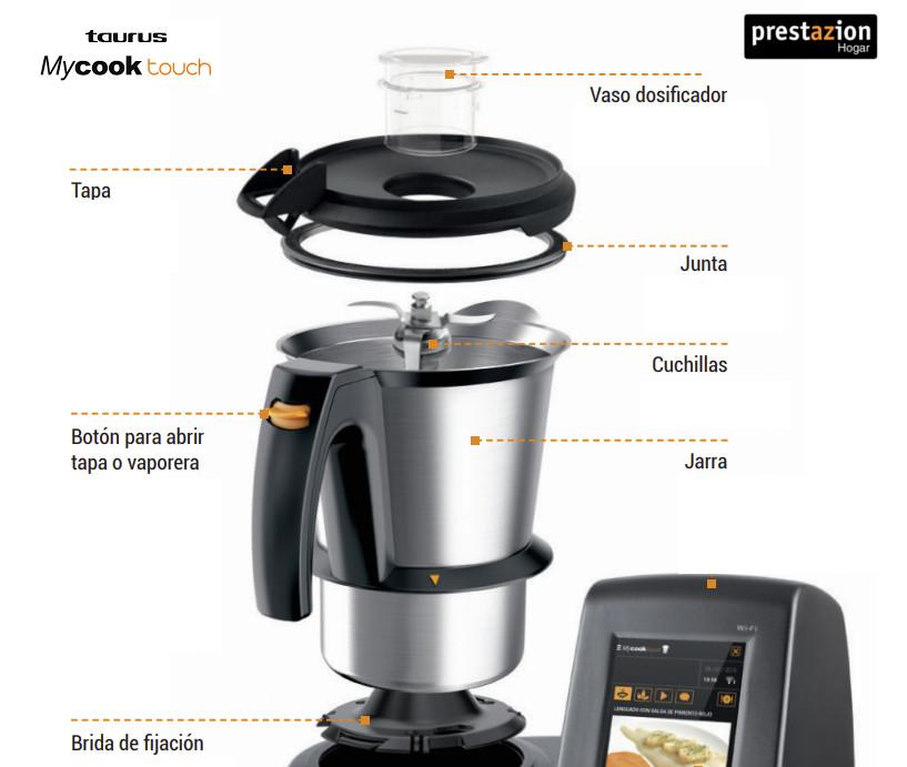 Robot-cocina-Taurus-Mycook-jarra-y-cuchillas-