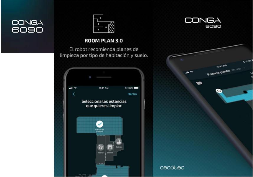 La aplicación de Conga 6090 Ultra