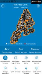 La app: tipo de mapas Proscenic 850T