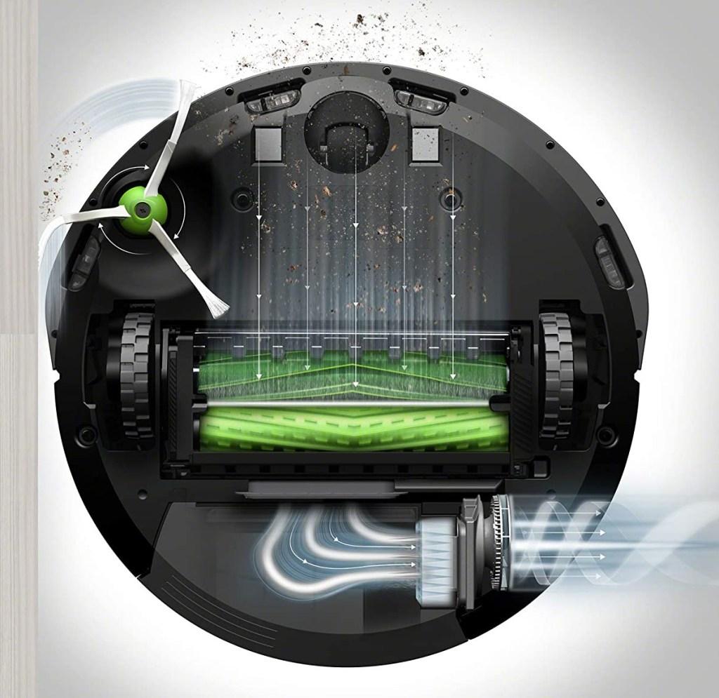 Similitudes entre Roomba i7  vista inferior