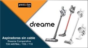 ASPIRADORAS SIN CABLE DREAME T30_T20_T10_comparativa