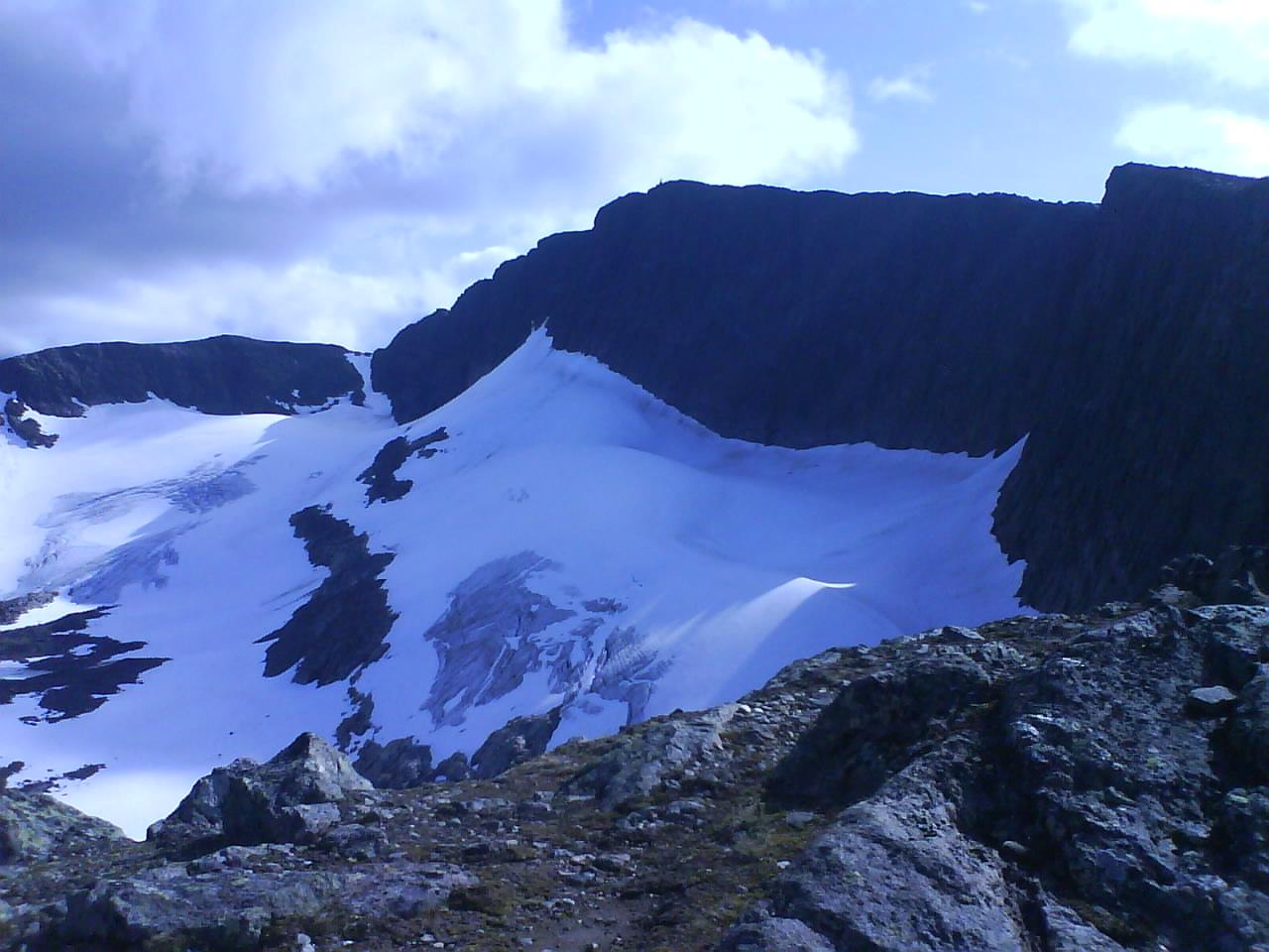 38 toppen och glaciären