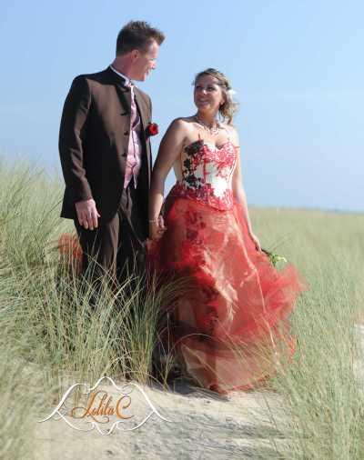 Robe   de mariée de couleur  Lolita C. Bordeaux