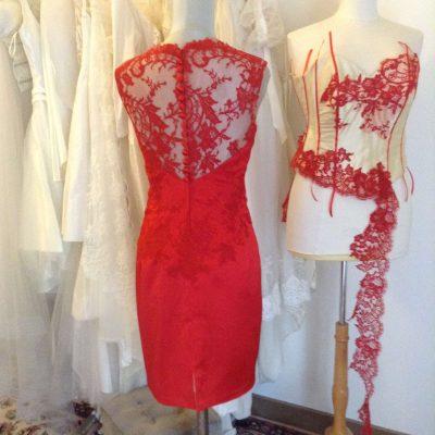 Robe de mariée et cocktail sur mesure Lolita C. atelier Prestige