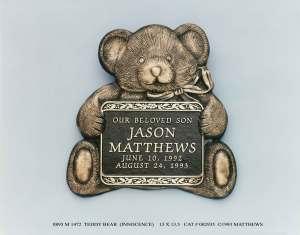 13x13.5 Baby and Child Memorials Teddy Bear Innocence Trav nv_71061592