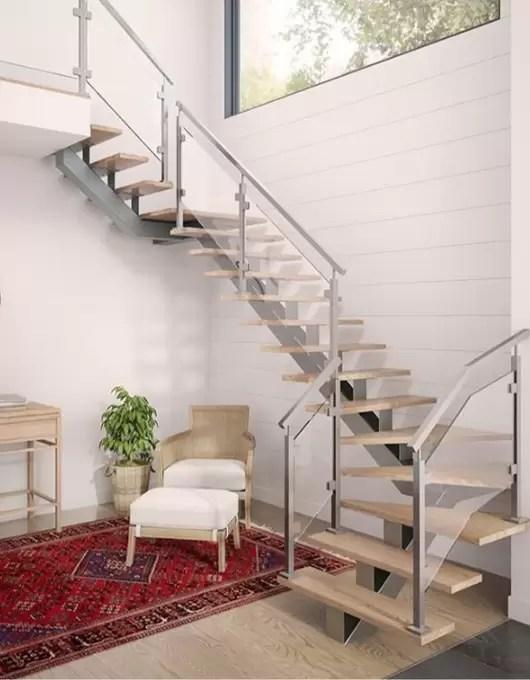 guide d escalier interieur prestige metal