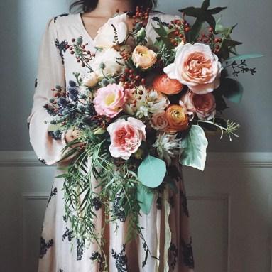 PEach+Toned+Wedding+Bouqet