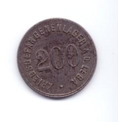 Moneta obozu jenieckiego w Łebie (I wojna św.).