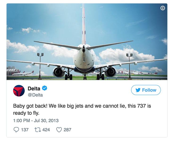 Delta Social Media Twitter