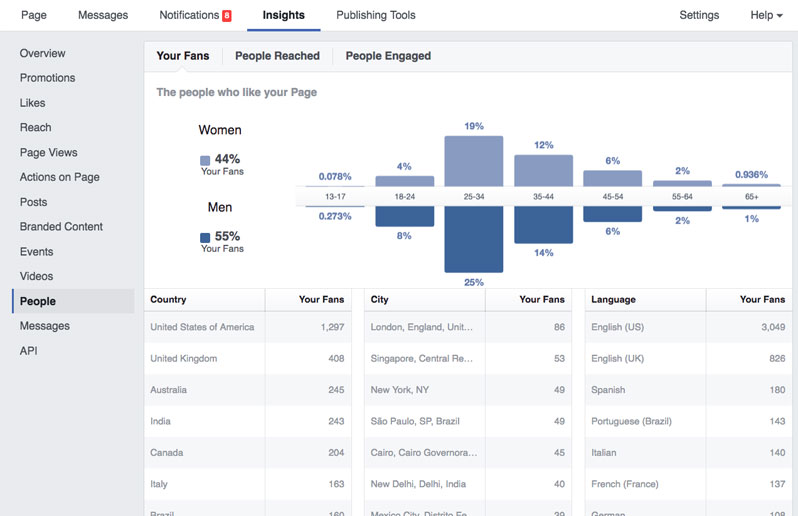 Facebook Social Media Insights