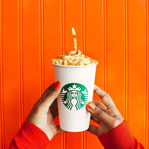 Starbucks Social Media Post