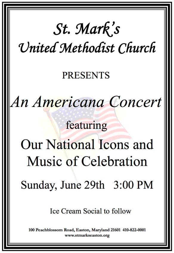 Americana Concert poster 2014